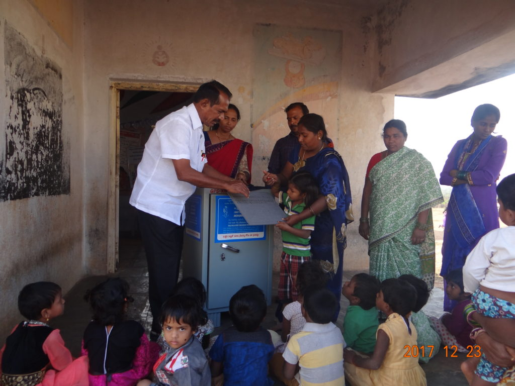 Free Distribution of Aksharabhyas Slate for Anganwadi students
